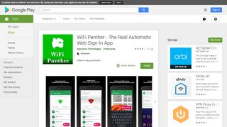 WiFi Panther - The Real Automatic Web Sign-In App - Apps on Google ...