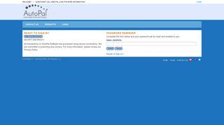Forgot your password? - AutoPal Software