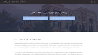 Loan Management Software - AutoPal Software