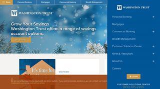 Washington Trust - Banking Services & Checking Accounts in RI