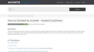 How to Connect to Avionté - Hosted Customers – Support Center