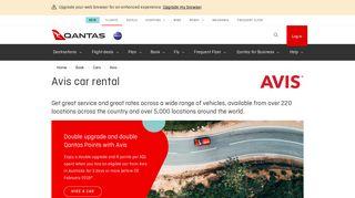 Avis car rental - Qantas