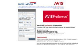 Avis Preferred BA - Car Hire