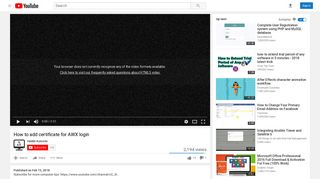 How to add certificate for AWX login - YouTube