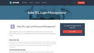babyTEL Login Management - Team Password Manager - Bitium