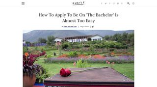 How To Apply To Be On 'The Bachelor' Is Almost Too Easy - Bustle