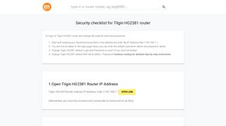 192.168.1.1 - Tilgin HG2381 Router login and password - modemly