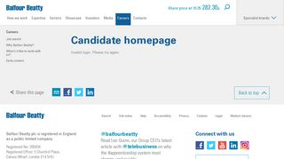 Candidate homepage - Careers - Balfour Beatty plc