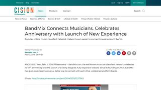 BandMix Connects Musicians, Celebrates Anniversary with Launch of ...