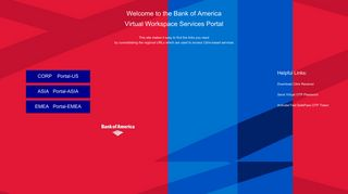 Welcome to the Bank of America Virtual Workspace Services Portal