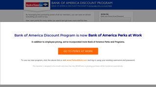Bank of America Discount Program