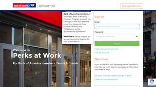 Perks at Work For Bank of America members, family & friends