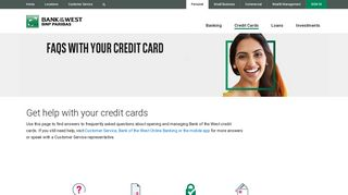 Credit Cards   Help   Bank of the West