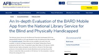 An In-depth Evaluation of the BARD Mobile App from the National ...