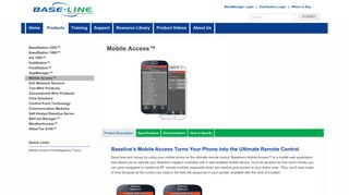Baseline - Mobile Access Remote Control - Baseline Irrigation Systems