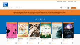 Brisbane City Council Library Services - OverDrive