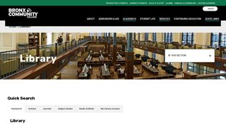 Library – Bronx Community College