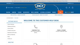 Customer Help Desk   BCF Australia