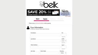 BELK - Apply for the BELK Credit Card - Synchrony
