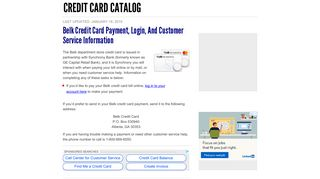 Belk Credit Card Payment, Login, and Customer Service Information ...