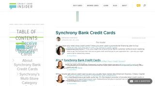 Synchrony Bank Credit Cards - Credit Card Insider
