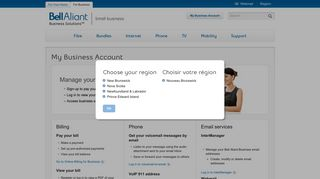 My Business Account - Small Business - Bell Aliant