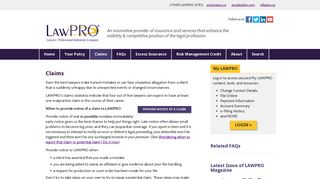 Claims – LAWPRO