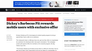 Dickey's Barbecue Pit rewards mobile users with exclusive offer ...