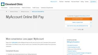 MyAccount Online Bill Pay | Cleveland Clinic