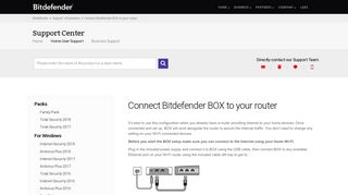 Connect Bitdefender BOX to your router