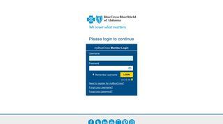 myBlueCross Member Login - Blue Cross and Blue Shield of Alabama