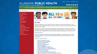 ALL Kids   Alabama Department of Public Health (ADPH)