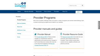 For Providers | Programs | Blue Cross Complete