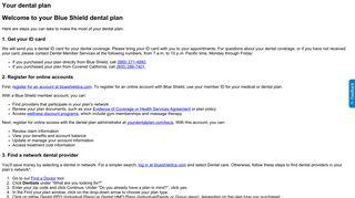 Your dental plan - Blue Shield of California | California Health Insurance