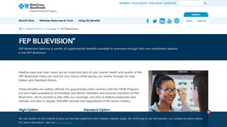 FEP BlueVision-Blue Cross and Blue Shield's Federal Employee ...