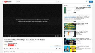 Blue Coat ProxySG - YouTube