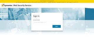 Symantec Web Security Service - Login