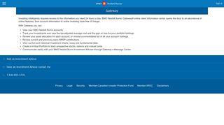 Gateway®   BMO Nesbitt Burns - BMO Mobile Banking