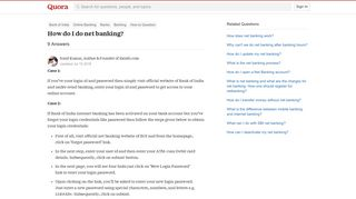 How to do net banking - Quora