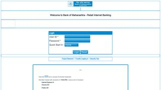 Bank of Maharashtra - Retail Internet Banking - Mahaconnect