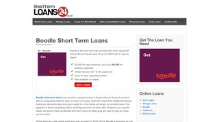 Boodle Short Term Loans - Borrow up to R2500 in 10 min