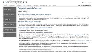 FAQ - Boutique Air