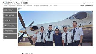 Boutique Air - Jobs Page