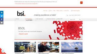 British Standards Online (BSOL) - Online database of standards   BSI ...