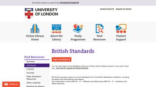 British Standards   The Online Library
