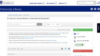 How do I access British or International Standards? - Library Help