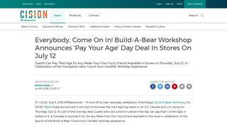Everybody, Come On In! Build-A-Bear Workshop Announces 'Pay ...