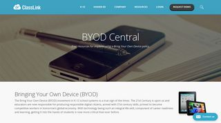 BYOD Central - ClassLink   Single Sign-On for Education