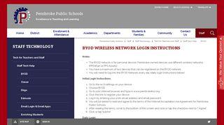 Staff Technology / BYOD - Pembroke Public Schools
