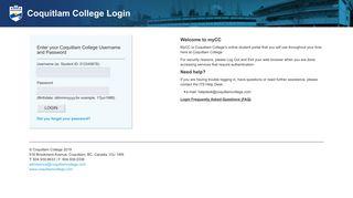 Coquitlam College Login